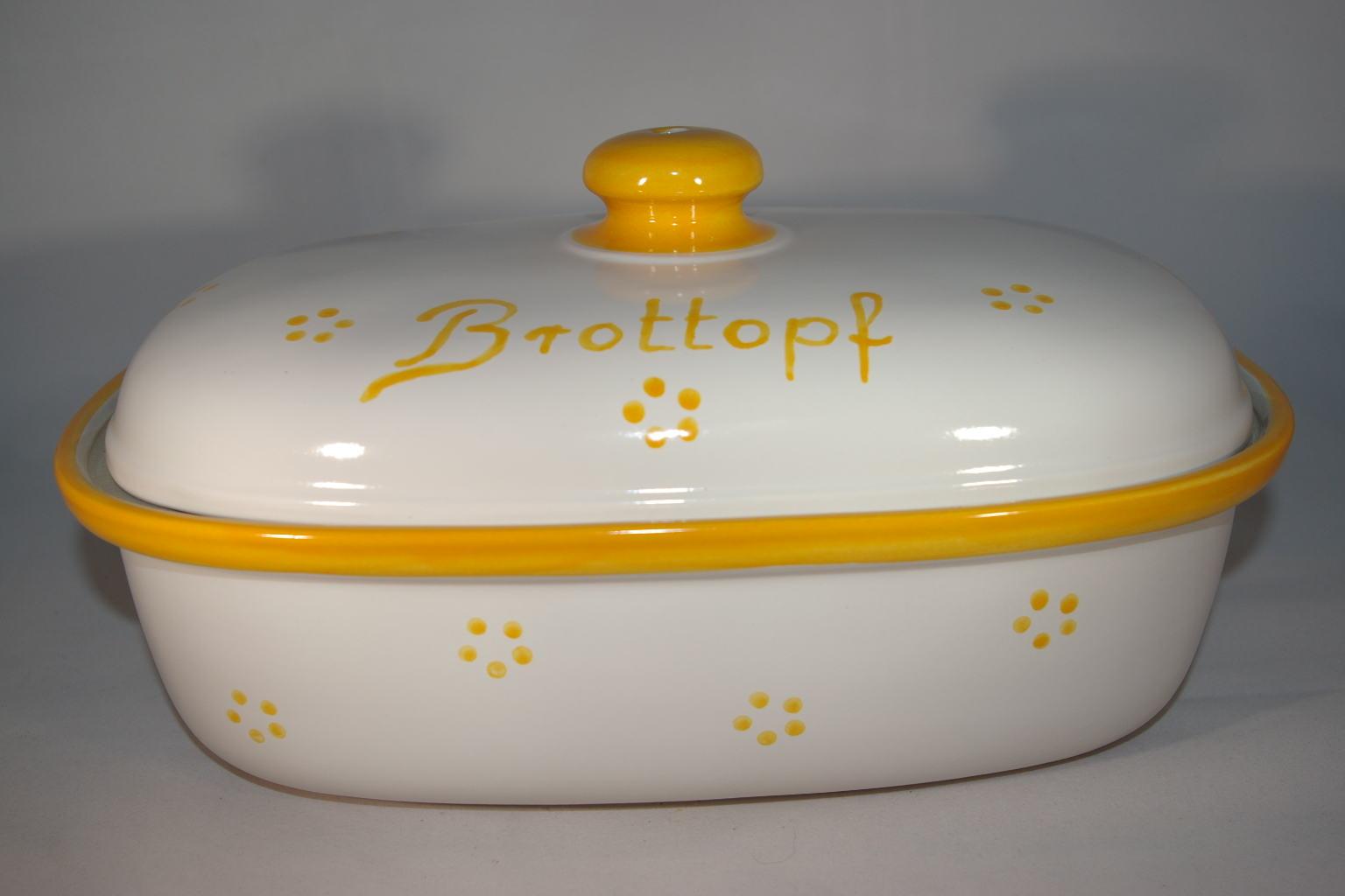 Ton Keramik Unterschied brottopf 30 cm retro gelb keramik seifert ronny seifert