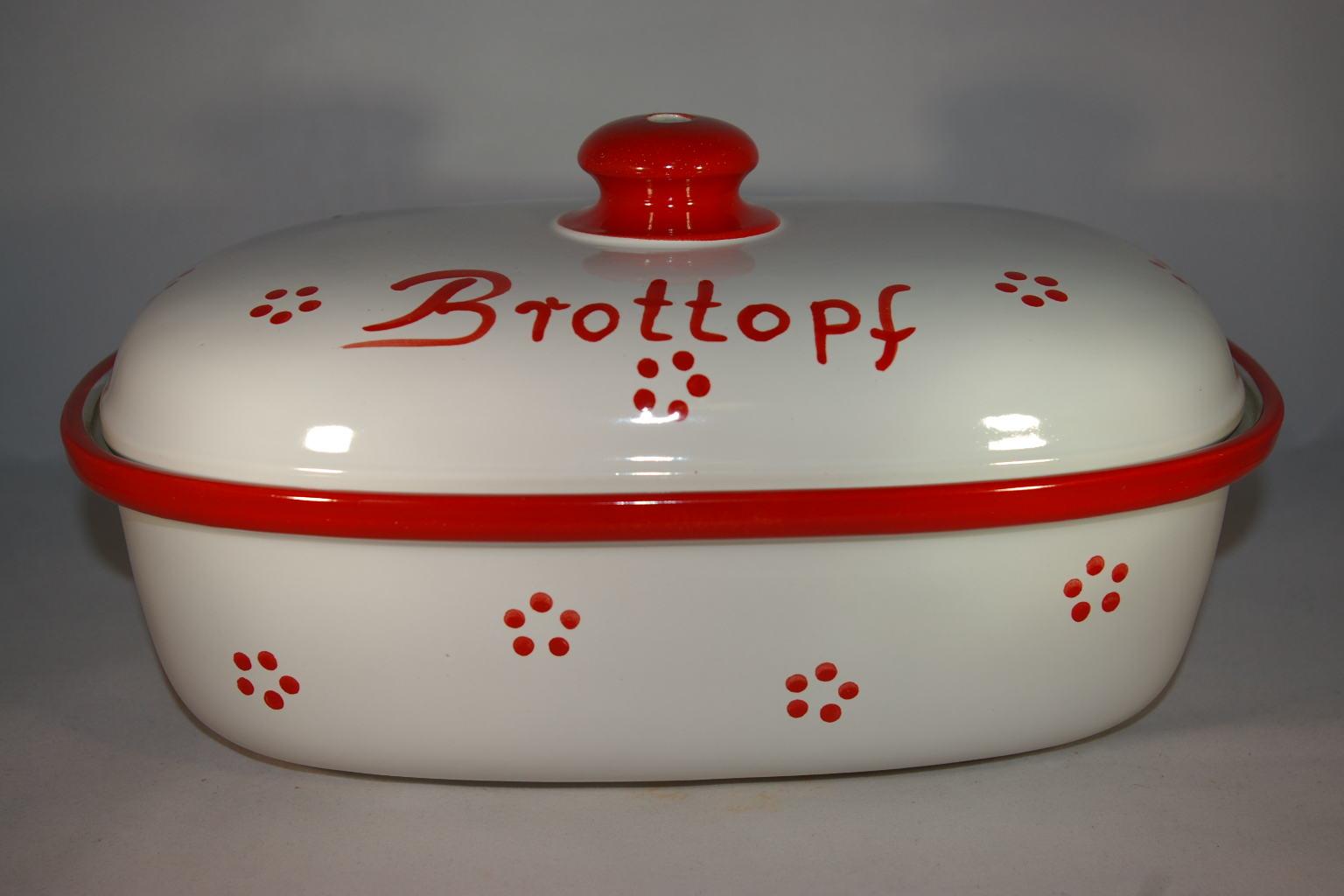 brottopf 30 cm retro rot keramik seifert ronny seifert. Black Bedroom Furniture Sets. Home Design Ideas