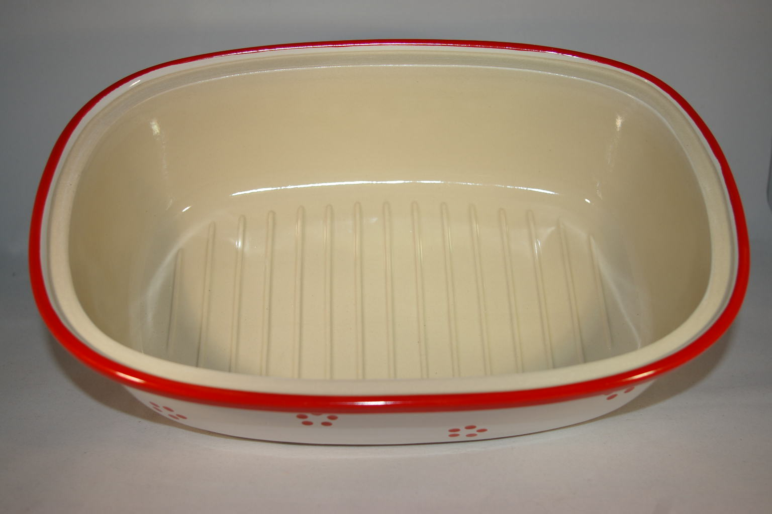 brottopf 30 cm retro rot keramik seifert ronny seifert toepferei seifert ihr namenstassen. Black Bedroom Furniture Sets. Home Design Ideas