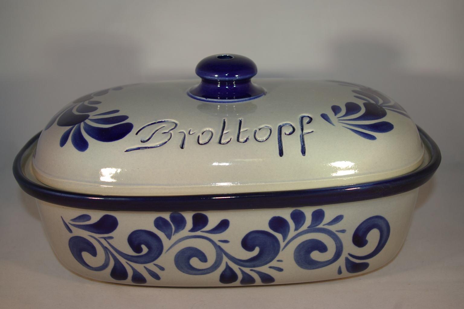 Ton Keramik Unterschied brottopf 30 cm grau blau keramik seifert ronny seifert