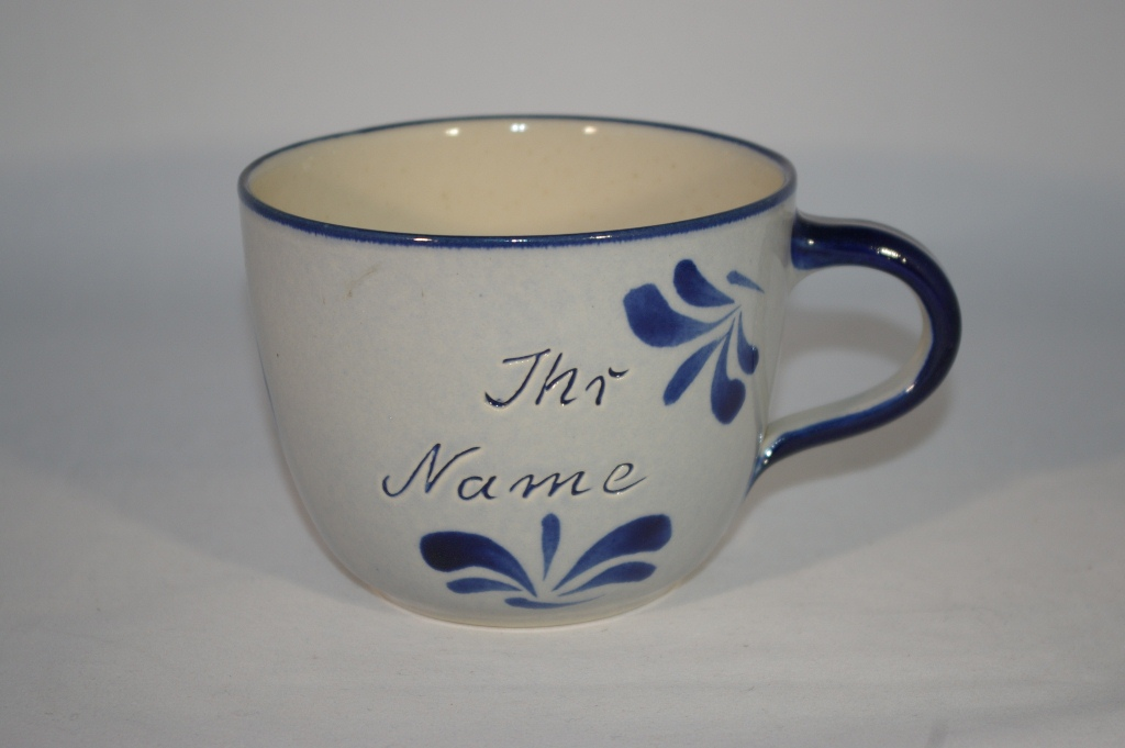 jumbo tasse grau blau ihr name keramik seifert ronny. Black Bedroom Furniture Sets. Home Design Ideas